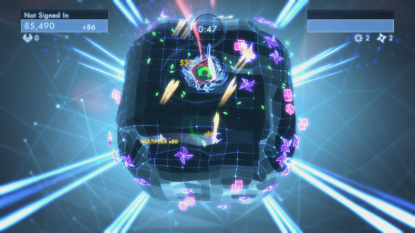 Geometry Wars 3: Dimensions cube