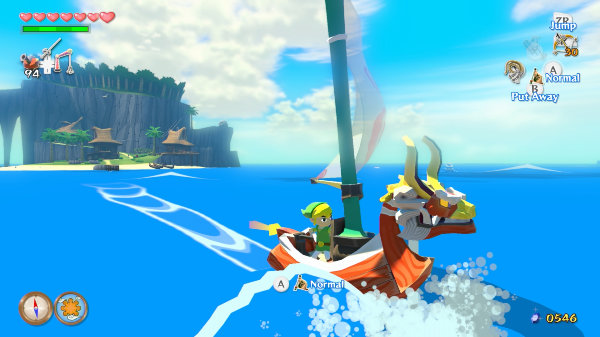 The Legend of Zelda The Wind Waker HD sailing