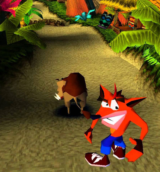 crash bandicoot retro