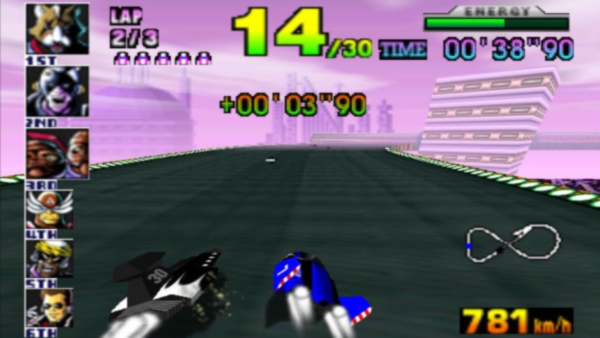 I would personally love a return to F-Zero X's style. Heavy metal, cereal box machines and all.