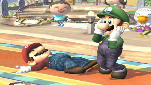 mario knocked down