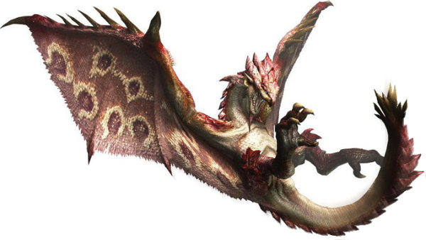 The pink Rathian is so fashionable right now.