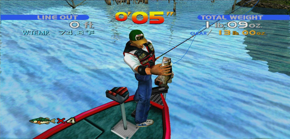 sega bass fishing small one