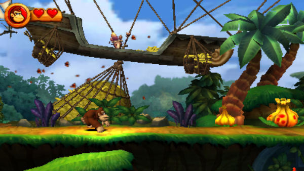 Donkey Kong Country Returns 3D banana thief