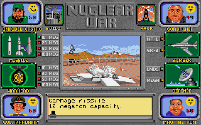 Nuclear War gameplay