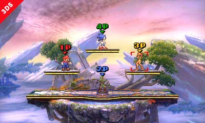 Super Smash Bros 3DS battle