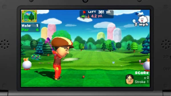 Mr. Iwata isn't the best golfer around, so please understand.