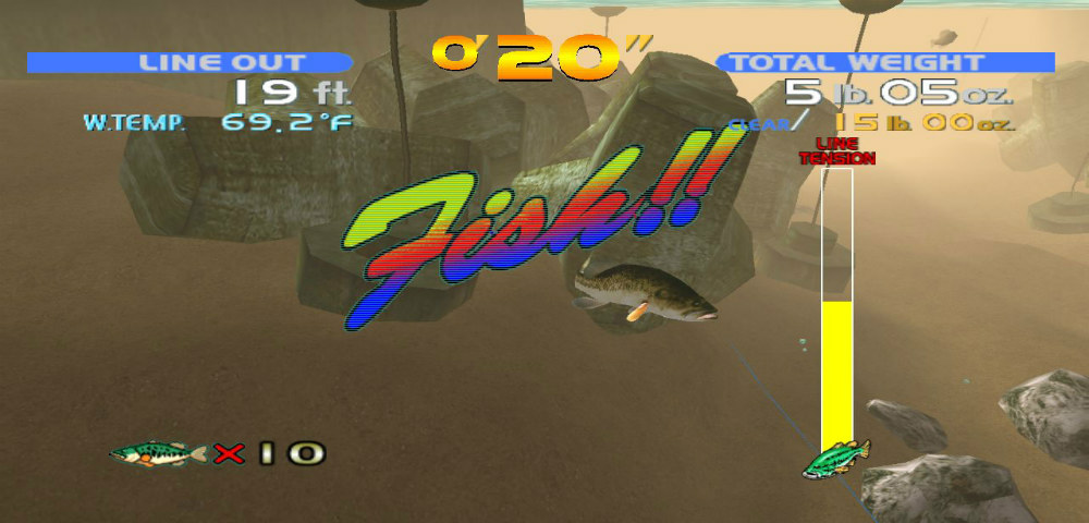 sega bass fishing fish