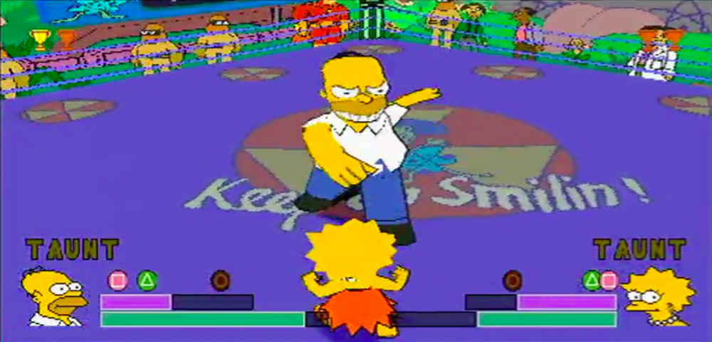 The Simpsons wrestling worst wrestling games